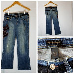 Rocawear Womens Juniors Jeans Size 5 Distressed